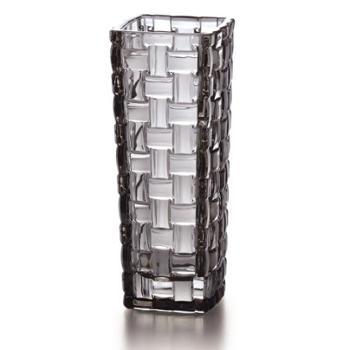 克芮思托巴塞罗彩饰玻璃花瓶15.5cm 家用办公彩色台面小花瓶 颜色随机