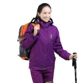 雷宾迪户外冲锋衣男女三合一两件套秋冬防水透气抓绒冲锋衣160A018A