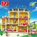 【小颗粒】邦宝益智积木儿童玩具 模拟生活女孩礼物我爱我家8370