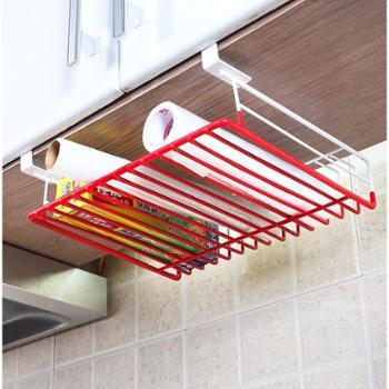 1208S创意多功能柜门保鲜纸挂架 厨房置物架收纳架储物层架用品