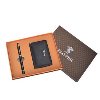 啄木鸟卡包签字笔两件套GD811033-2A黑色