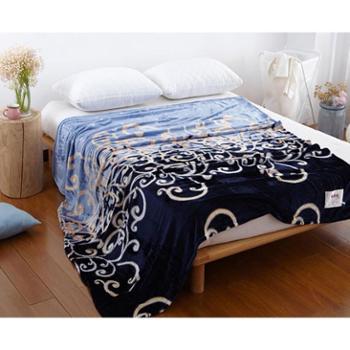 恒源祥家纺 柔软舒适法兰绒毯子单双人午休盖毯 珊瑚绒毛毯