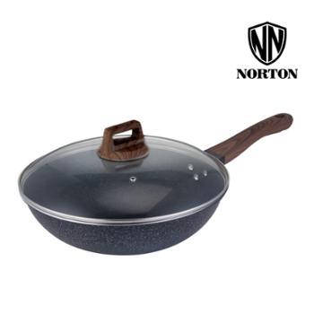 诺顿 巴拉菲轻奢煎炒锅1JBLF032麦饭石不粘锅无油烟