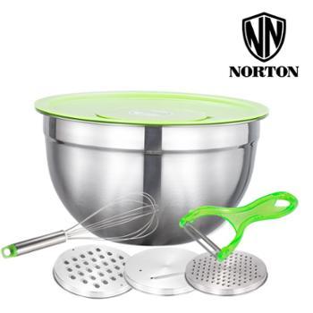诺顿智巧多功能组合加厚淘洗米筛蔬果刨厨房套装26cm