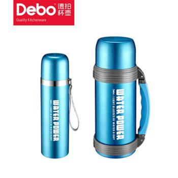 Debo德铂普洛斯真空保温杯壶户外旅行304不锈钢500 1200mL水壶套装两件套
