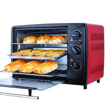 九阳家用电烤箱30升/L面包蛋挞多功能大烤箱上下控温KX-30J01 红色