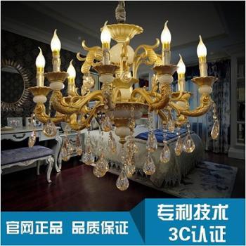 名贵品质欧美风格吊灯LED 客厅卧室餐厅书房灯中云创照明节能灯具