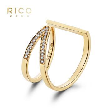 睿珂珠宝NEWYORK系列18K金钻石戒指多种佩戴方式