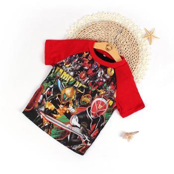 瑞彩夏季新款儿童短袖T恤男童半袖假面骑士夏装儿童装宝宝上衣打底衫 纯棉健康 舒适柔软