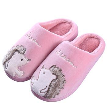 冬季棉拖鞋情侣加厚保暖鞋男女室内防滑厚底卡通家居家毛毛棉拖鞋