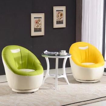 御唐轩 时尚创意个性懒人沙发 单人休闲阳台简易旋转小沙发椅子