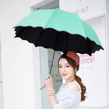 两用晴雨伞防晒黑胶伞太阳伞女三折伞雨伞折叠雨伞创意遮阳伞