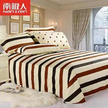 南极人全棉床单斜纹纯棉床单单双人学生宿舍1.5/1.8m特价包邮