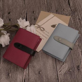 Ouliss奥里斯真皮卡包女多卡位韩国可爱头层牛皮信用卡片包名片包
