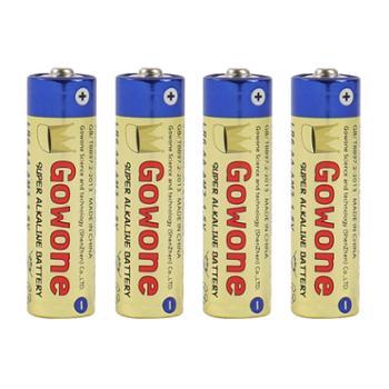 Gowone购旺5号四节AA/LR6耐用型不可充无汞环保碱性电池出口简装血压计遥控器闹钟电池