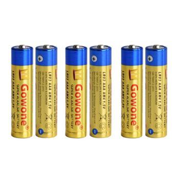 Gowone购旺7号6节AAA/LR03无汞环保碱性电池耐用型不可充出口简装血糖仪电动玩具翻页笔电池