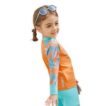 善融优惠GO限购1件鲨宝莱儿童泳衣中小女童分体速干韩版沙滩防晒游泳衣WK-VTT334336342