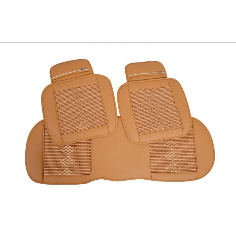 汽车坐垫三件套防滑免绑透气冰丝座垫 四季通用无靠背坐垫单片高清图片