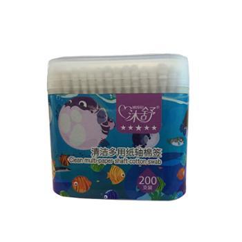 沐舒婴儿棉签清洁多用纸轴细轴棉棒200支