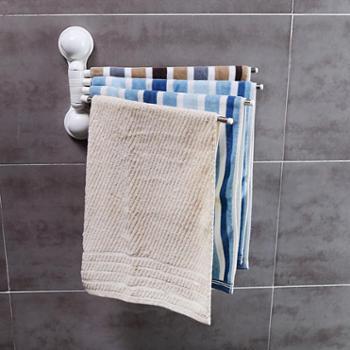 免打孔吸盘旋转浴室厨房毛巾架卫生间毛巾杆吸盘式毛巾挂架挂毛巾