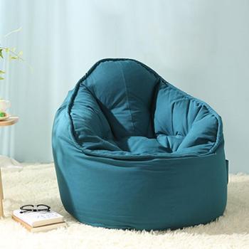 木优懒骨头单人沙发 创意懒人沙发豆袋 懒人电脑椅子卧室小沙发椅