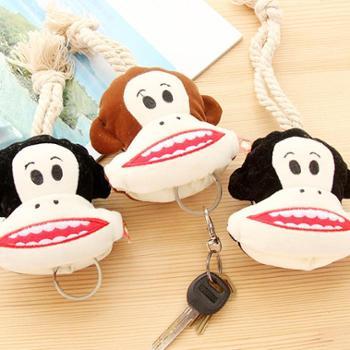 尚派~抽拉式钥匙包 韩版布艺卡通钥匙袋 卡通可爱礼品钥匙挂 三支装