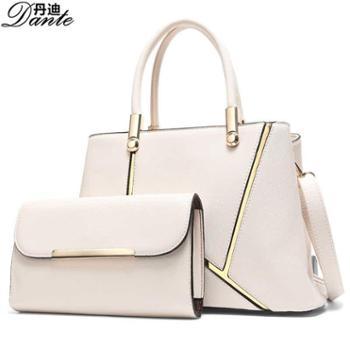 丹迪欧美新款女包时尚女士PU手提包可单肩斜跨潮流子母包