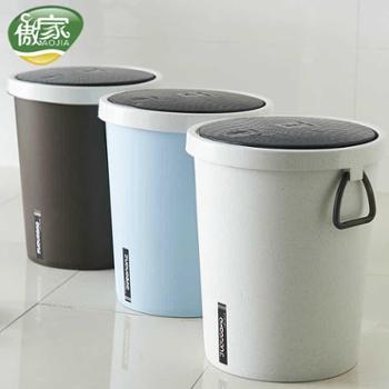 手按垃圾桶家用卫生间弹盖按压式客厅纸篓翻盖有盖卧室宿舍垃圾筒生活用品