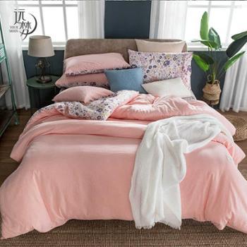 远梦四件套纯棉印花时尚水洗套件1.5m1.8m床全棉被床单简约床上用品