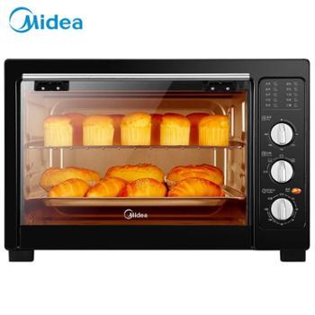 Midea/美的电烤箱38L大容量多功能全自动烘焙发酵电烤箱MG38CB-AA