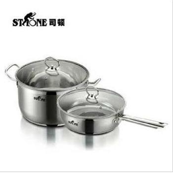 STONE德国司顿帅锅系列无烟煎炒锅不粘汤锅两件套STH024