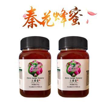 2瓶装秦花土蜂蜜农家自产天然蜂蜜500克*2瓶