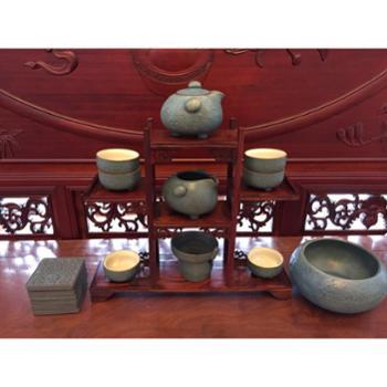 【展艺】台湾陶瓷茶具 六杯 六碟 一洗 一壶 一公杯 一漏网