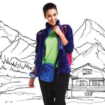 谷瑞盟瑞士高端品牌/ 户外女款珊瑚绒休闲外套 春季抓绒衣抓绒卫衣女正品