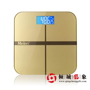 正品Meilen精准电子秤人体秤体重秤家庭办公室用土豪金倾城发售
