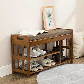 换鞋凳鞋柜实木竹欧式现代简约可坐简易多功能试穿门口鞋架鞋凳子