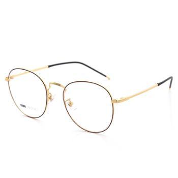TILU天禄眼镜金属文艺细边复古圆框可配镜J00364