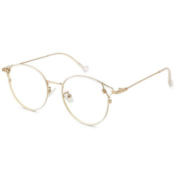 【0元配镜】TILU天禄眼镜时尚潮流别致造型金属眼镜框J00399