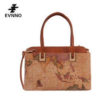 意威诺(evnno)单肩手提斜挎包 大容量 限量地图款式 B819-16