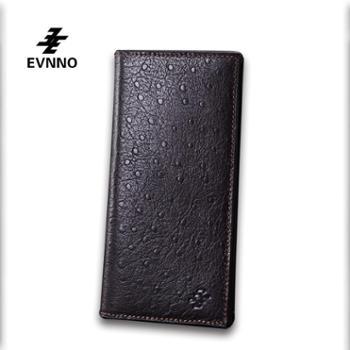 意威诺(evnno)长款钱包真皮鸵鸟纹头层牛皮钱夹Q0381-A3