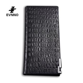 意威诺(evnno)长款钱包超薄鳄鱼纹头层牛皮钱夹Q0451-A3