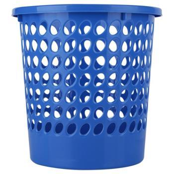 垃圾桶垃圾篓纸篓 得力9556办公垃圾桶 耐用蓝色圆形环保 PP材料
