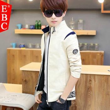 男士外套春季韩版夹克男青年修身时尚休闲褂子青少年潮流个性男装