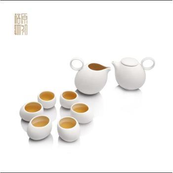 原初格物知音陶瓷茶具8件套装玉脂瓷简约品味创意时尚高端礼品