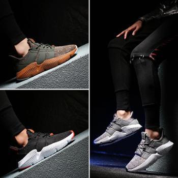 2018夏季新款运动鞋男透气跑步鞋男鞋韩版潮流鞋子休闲男士小白鞋 8001