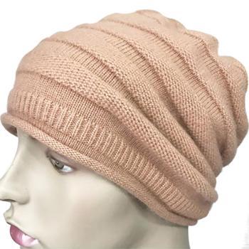 恩德兰派羊绒帽子百搭保暖羊毛混纺秋冬帽子