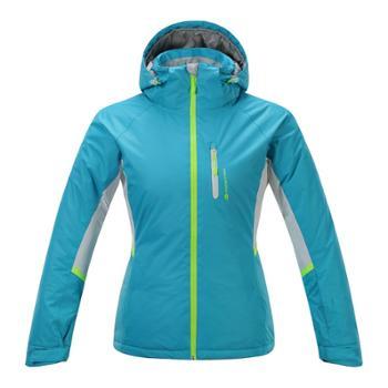 阿尔派妮AlpinePro女士双板专业蓝色滑雪服防风保暖风衣LJCF087