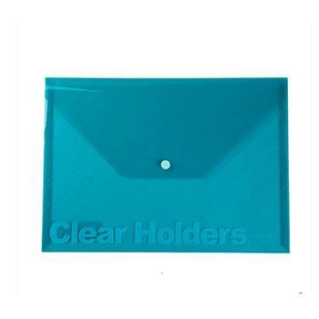三木C330 文件袋 手提袋 档案袋 A4透明按扣式文件袋 330*238mm