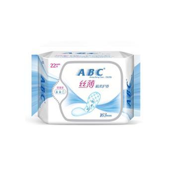 ABC丝薄棉柔表层护垫163mm*22片(KMS配方)(新旧包装随机发货)