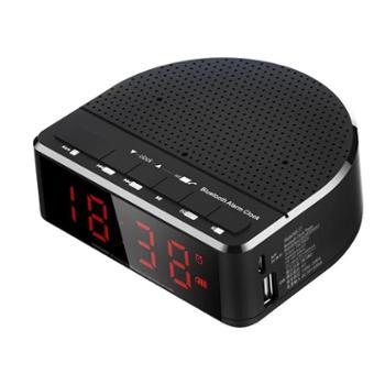 【机械战警】手机无线蓝牙音箱车载免提通电话mp3时钟闹钟FM收音机 TF插卡音响